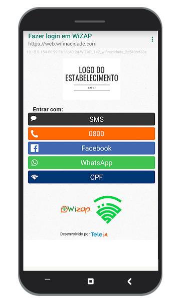 Dispositivos novatos precisam fazer login Após o login a internet é liberada automaticamente.